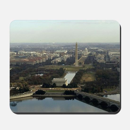Washington DC Aerial Photograph Mousepad