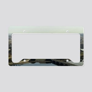 Washington DC Aerial Photogra License Plate Holder
