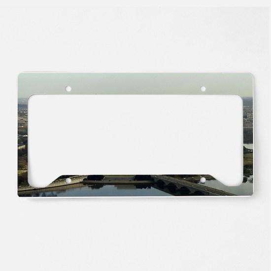 Washington DC Aerial Photogra License Plate Holder
