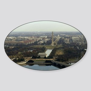 Washington DC Aerial Photograph Sticker (Oval)