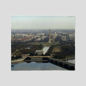 Washington DC Aerial Photograph Throw Blanket