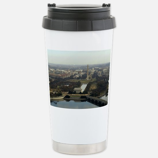 Washington DC Aerial Ph Stainless Steel Travel Mug