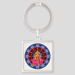 Daily Focus Mandala 4.2.15 Lakshmi Square Keychain
