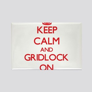 Keep Calm and Gridlock ON Magnets