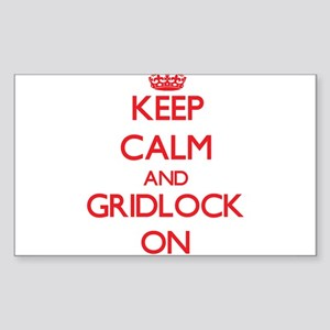 Keep Calm and Gridlock ON Sticker