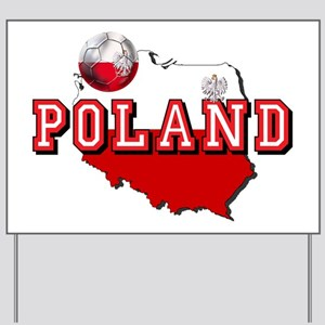 Polish Flag Map Yard Sign
