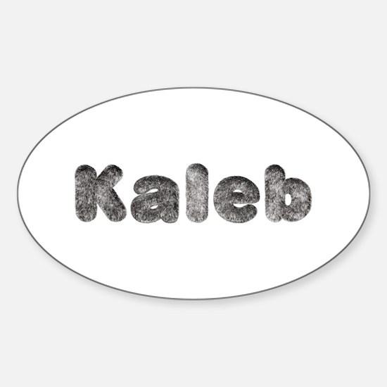 Kaleb Wolf Oval Decal