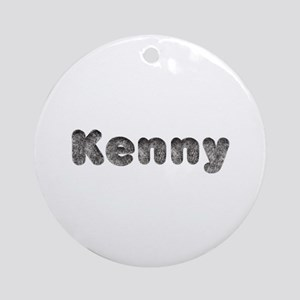 Kenny Wolf Round Ornament