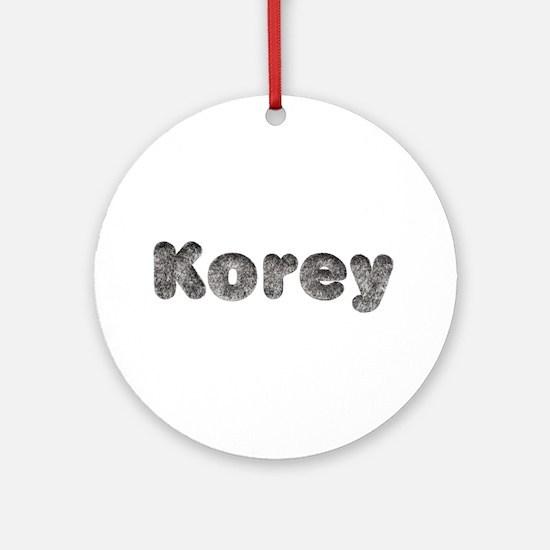 Korey Wolf Round Ornament