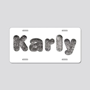 Karly Wolf Aluminum License Plate