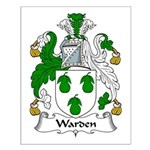 Warden Family Crest Small Poster
