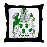 Warden Family Crest Throw Pillow