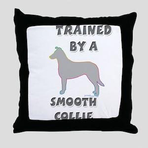Smooth Collie Slvr Throw Pillow