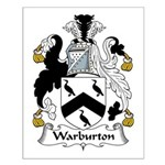 Warburton Family Crest Small Poster