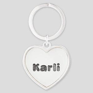 Karli Wolf Heart Keychain