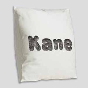 Kane Wolf Burlap Throw Pillow