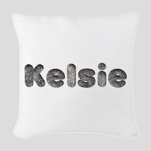 Kelsie Wolf Woven Throw Pillow