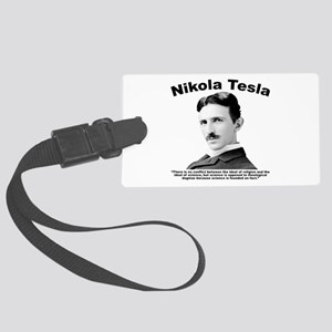Tesla: Religion Large Luggage Tag