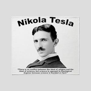 Tesla: Religion Throw Blanket