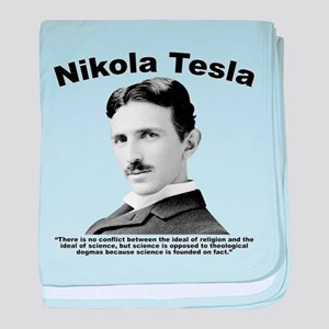 Tesla: Religion baby blanket
