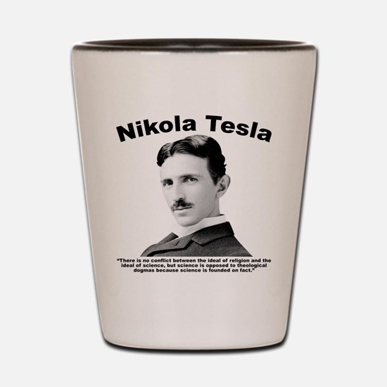 Tesla: Religion Shot Glass