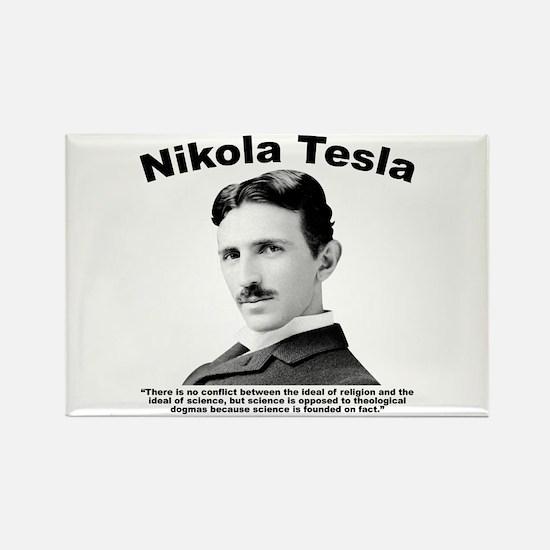 Tesla: Religion Rectangle Magnet