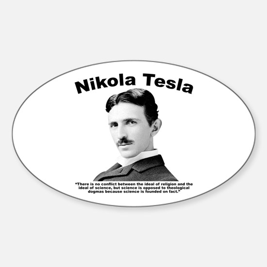Tesla: Religion Sticker (Oval)