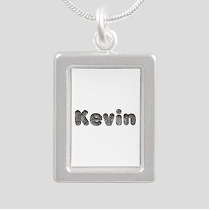 Kevin Wolf Silver Portrait Necklace