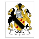 Walter Family Crest Small Poster
