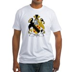 Walter Family Crest  Fitted T-Shirt