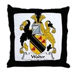 Walter Family Crest Throw Pillow