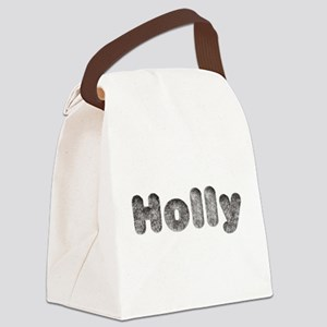 Holly Wolf Canvas Lunch Bag