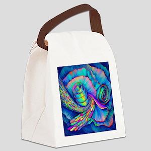 WILD RUFFLES Canvas Lunch Bag