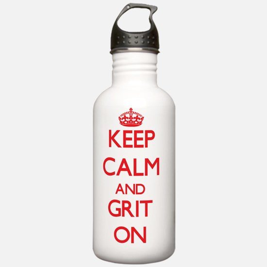 Keep Calm and Grit ON Water Bottle