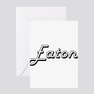 Eaton surname classic design Greeting Cards