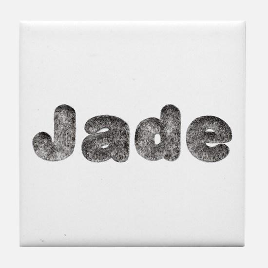 Jade Wolf Tile Coaster