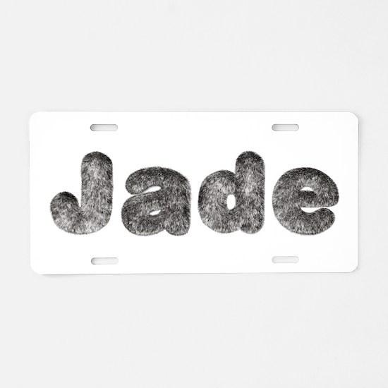 Jade Wolf Aluminum License Plate