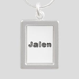 Jalen Wolf Silver Portrait Necklace