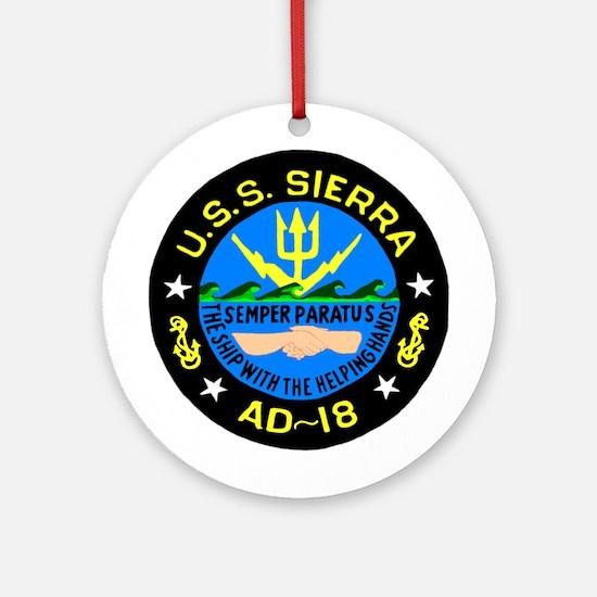 USS Sierra (AD 18) Ornament (Round)