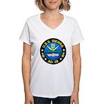 USS Sierra (AD 18) Women's V-Neck T-Shirt