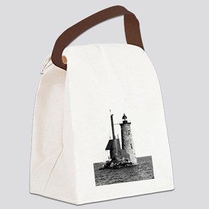 Whaleback Lighthouse Canvas Lunch Bag