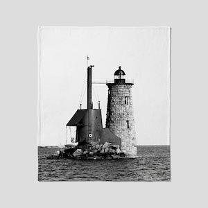 Whaleback Lighthouse Throw Blanket