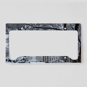 Winter Wonderland White House License Plate Holder