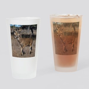 White Tail Deer Drinking Glass