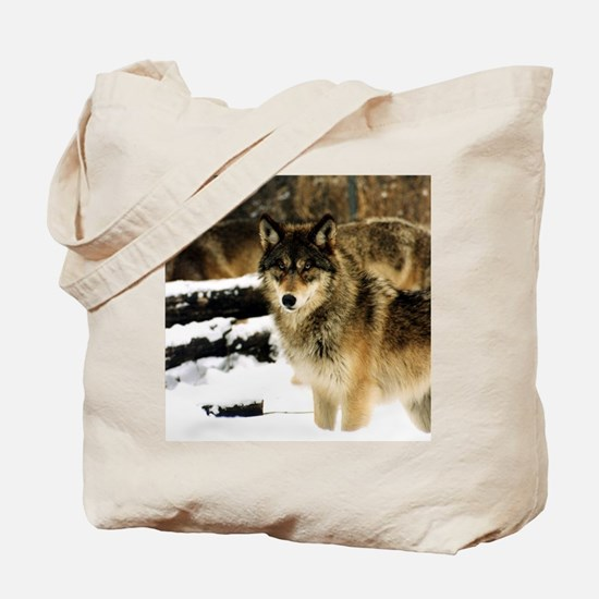 Wolves in The Snow Tote Bag