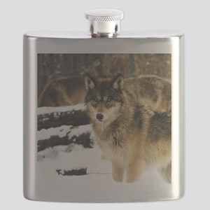 Wolves in The Snow Flask