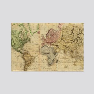 Vintage Map of The World (1831)  Rectangle Magnet