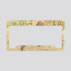 Vintage Map of The World (183 License Plate Holder
