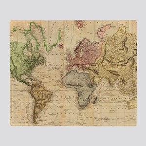 World map blankets cafepress vintage map of the world 1831 throw blanket gumiabroncs