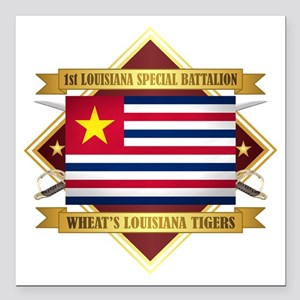 1st Louisiana Special Battalion Square Car Magnet